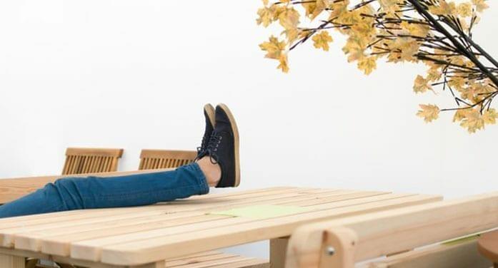 Relaxing in the backyard